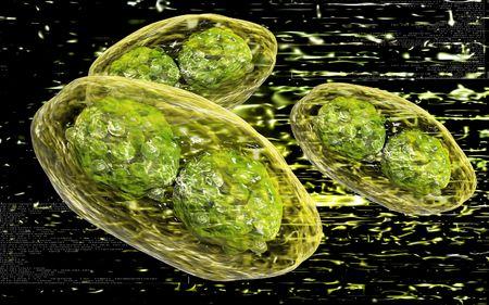 Digital illustration of  pox virus in colour  background  illustration