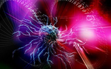 Digital illustration  of stem cell in colour background Stock Illustration - 5386393