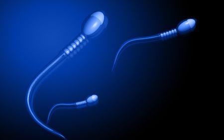 Digital illustration of  sperm  in colour  background  Stock Illustration - 5388655