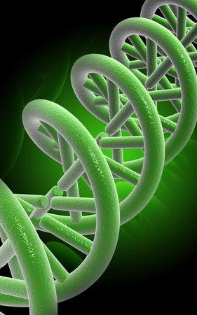 Digital illustration DNA structure  in colour background  Stock Illustration - 5388527