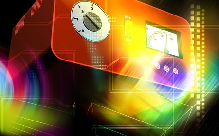 stabilizer: Digital illustration of an electrical stabilizer in colour background