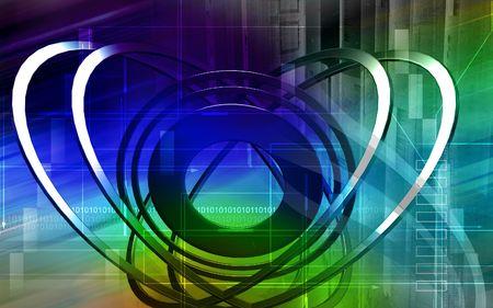 light emission: Digital illustration of emission of rays in colour background  Stock Photo