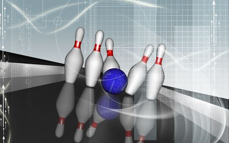 boll: Digital illustration of Tenpin and dollar boll   Stock Photo