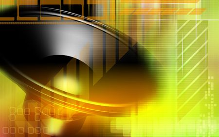 dolby: Digital illustration of  a loud speaker in colour background  Stock Photo