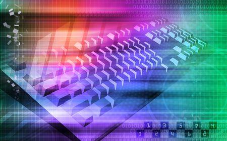 light emission: Digital illustration of keyboard in colour background   Stock Photo