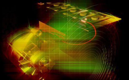 alternator: Digital illustration Of Alternator in colour background