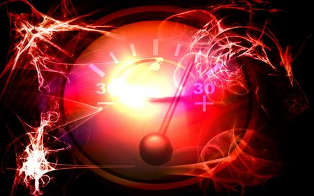 ammeter: Digital illustration of a Ammeter in colour Glows