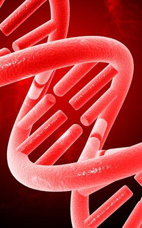 Digital illustration DNA structure  in colour background Stock Illustration - 5609328