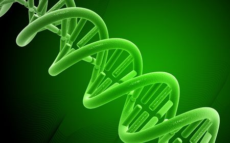 Digital illustration DNA structure  in colour background Stock Illustration - 5651613