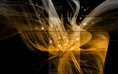 backdrop: Digital illustration of digital background in yellow