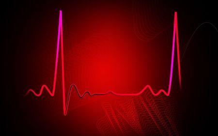 Digital illustration  of electro cardio graph in colour background   illustration