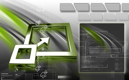 tablero de control: Ilustraci�n digital del panel de control de firmar en el fondo de color