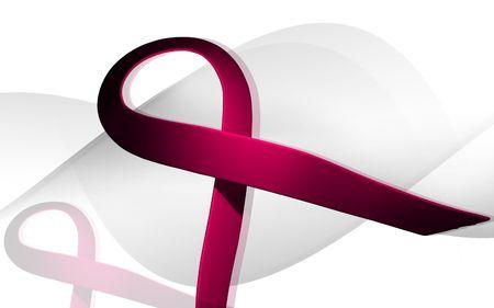 Digital illustration of a HIV ribbon in colour background  illustration