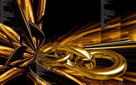 Digital illustration of chain  symbol in colour background  illustration