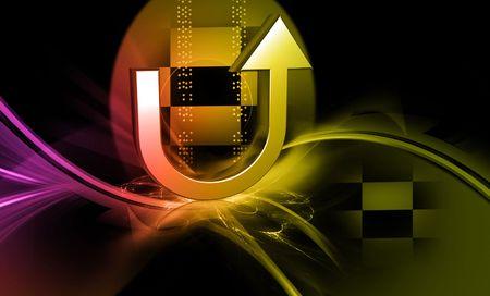u turn sign: Digital illustration of road sign in colour background
