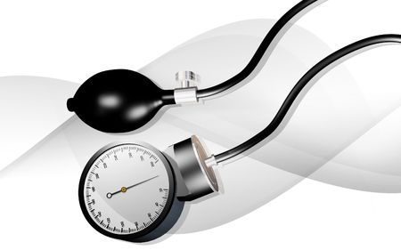 Digital illustration of sphygmomanometer in isolated background   illustration