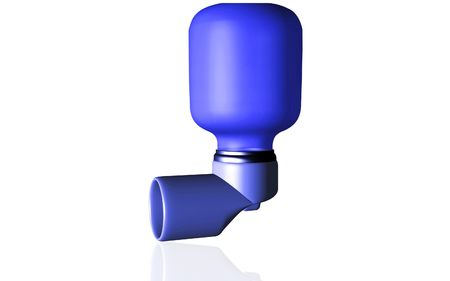 asthma: Digital illustration of an inhaler used by asthma patients