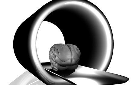 Digital illustration of  brain in isolated background  Stock Illustration - 5861622
