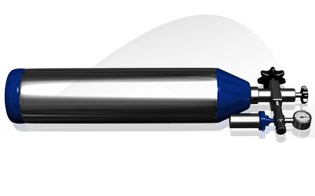 Digital illustration of oxygen cylinder in isolated background  illustration