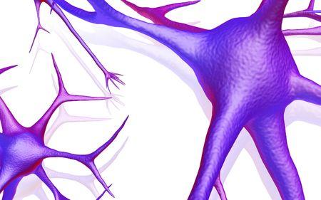 Digital illustration of Neuron with isolated background Stock Illustration - 5861942