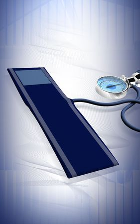 Digital illustration of sphygmomanometer in isolated background   illustration