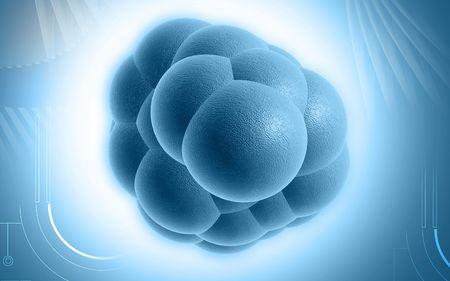 Digital illustration of stem cells in colour background  Banco de Imagens