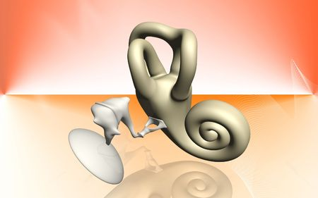 Digital illustration of  ear in colour background Stock Illustration - 5905261