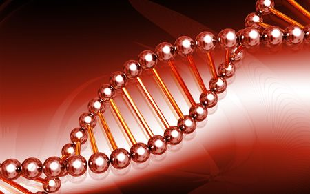 Digital illustration DNA structure  in colour background Stock Illustration - 5905280