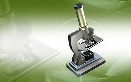 Digital illustration   of microscope in colour background  illustration