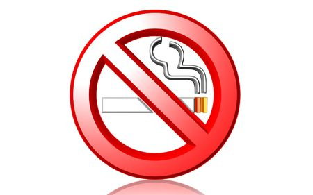 no movement: Digital illustration of no smoking in isolated background