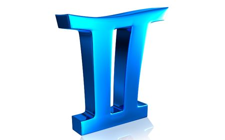 Digital illustration of Zodiac symbol in isolated background Stock Illustration - 5963588