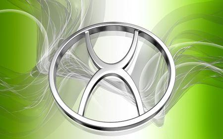 Digital illustration of atheist  symbol in colour background   illustration