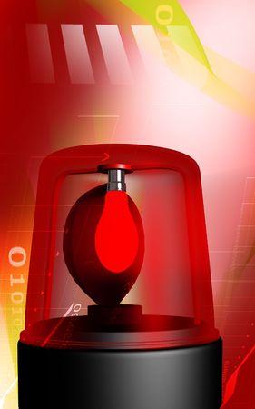 emergency light: Digital illustration of emergency light in colour background