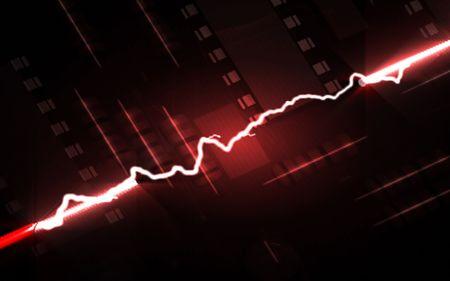 Digital illustration of shot circuit in colour background Stock Illustration - 6026974