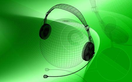 sonic: Digital illustration of headphone  in colour background