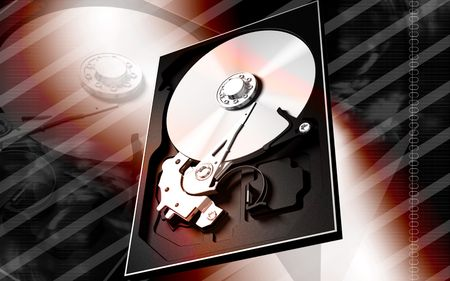 music machine: Digital illustration of compact disc reader in colour background
