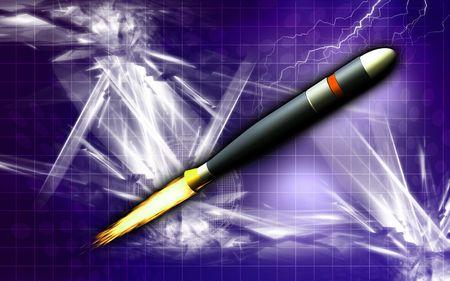 alternator: Digital illustration of a heater plug in colour background