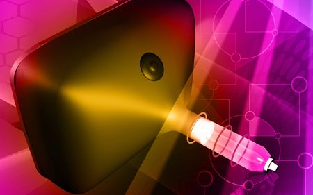 triode: Digital illustration of a picture- tube in colour background  Stock Photo