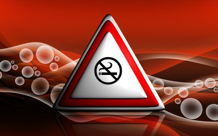 Digital illustration of no smoking in colour background Stock Illustration - 6144947