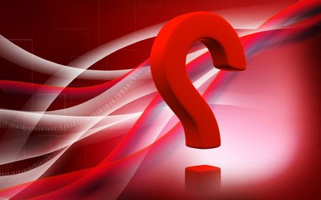 Digital illustration of question mark sign in colour background Stock Illustration - 6144923