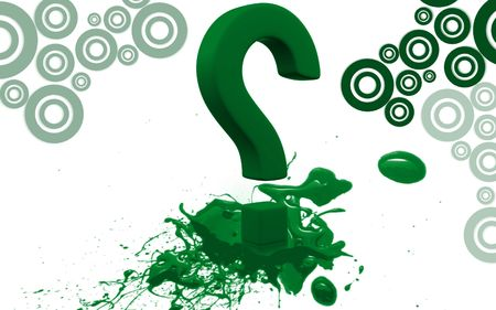 Digital illustration of question mark sign in colour background Stock Illustration - 6144852