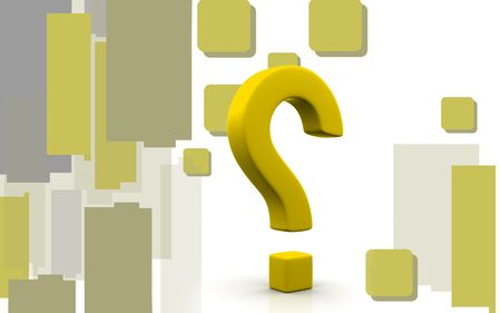 Digital illustration of question mark sign in colour background  illustration