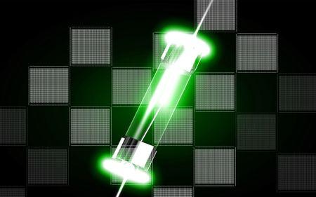 Digital illustration of fuse in colour background  illustration