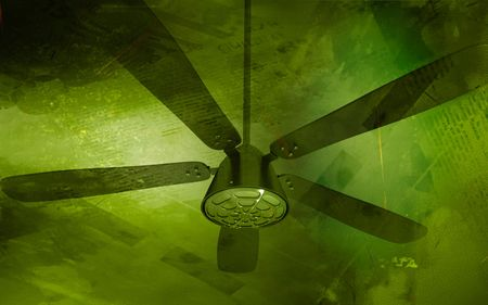 Digital illustration of ceiling fan in colour background Stock Illustration - 6247114