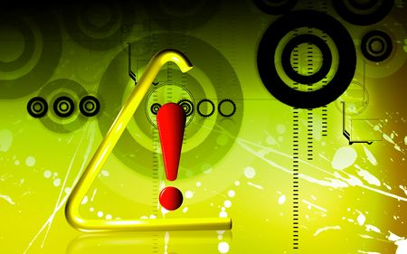 exclamatory: Digital illustration of Warning sign in colour background