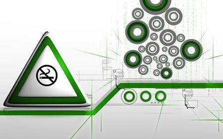Digital illustration of no smoking in colour background  illustration