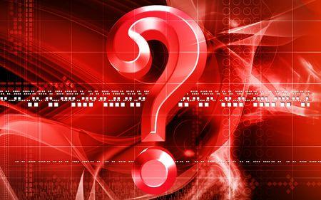 Digital illustration of question mark sign in colour background Stock Illustration - 6299417