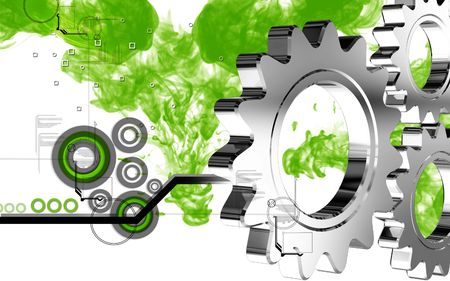 industrial machine: Digital illustration of industrial symbol in colour background  Stock Photo