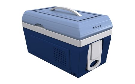 refrigerated: Digital illustration of  a Esky in isolated background   Stock Photo