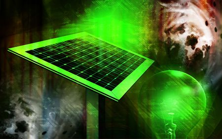 squire: Digital Illustration of solar panel in colour background